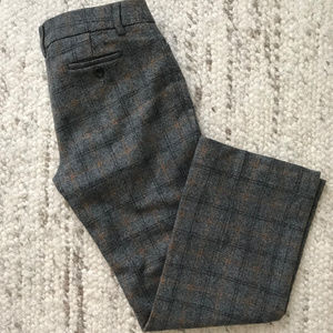 J.Crew plaid wool trousers sz 2P